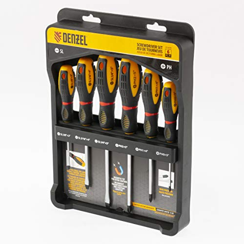 DENZEL Screwdriver Set Of 6-pcs, Tri-lobe handle,...