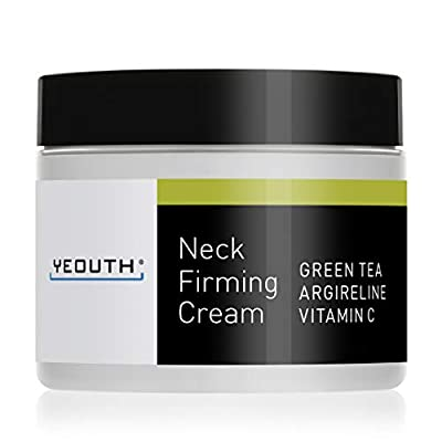 YEOUTH Neck Cream for Firming, Anti Aging Wrinkle Cream Moisturizer, Skin Tightening, Helps Double Chin, Turkey Neck Tightener, Repair Crepe Skin with Green Tea, Argireline, Vitamin C (2oz) from Yeouth