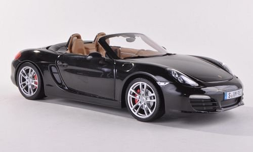 Porsche Boxster S (981), met.-schwarz , 2012, Modellauto, Fertigmodell, Minichamps 1:18