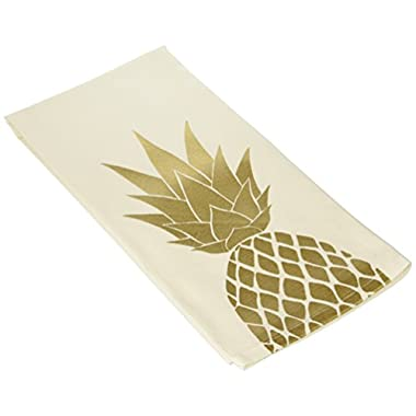 About Face Designs Hello World-Pineapple Tea Towel, White