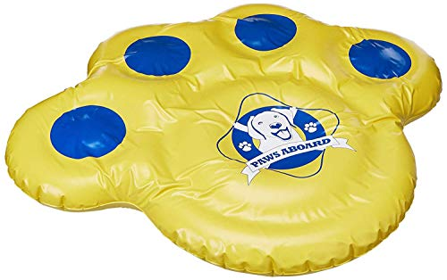"Paws Aboard Doggy Lazy Raft, Puncture Resistant Vinyl Dog Float, Perfect for The Lake, Pool, River & Boat – Small (30"" x 23"")"