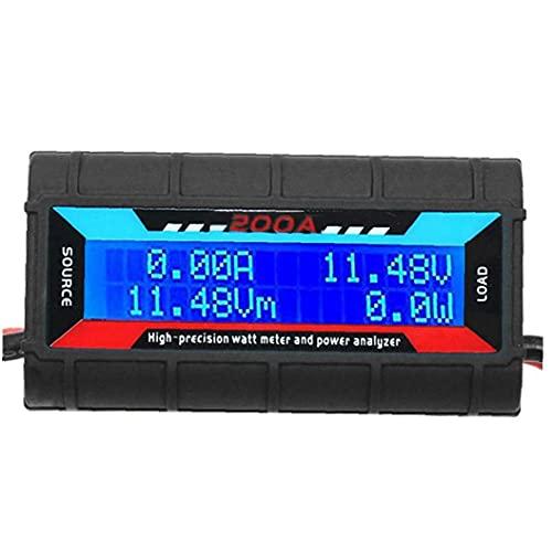 Analizador de voltaje 200A Analizador de potencia WATT METER Analizador de potencia de alta precisión con pantalla LCD digital para la potencia de corriente de voltaje