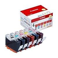 【純正品】 キヤノン(Canon) インクカートリッジ 6色セット 型番:BCI-6/6MP 単位:1箱(6色セット)