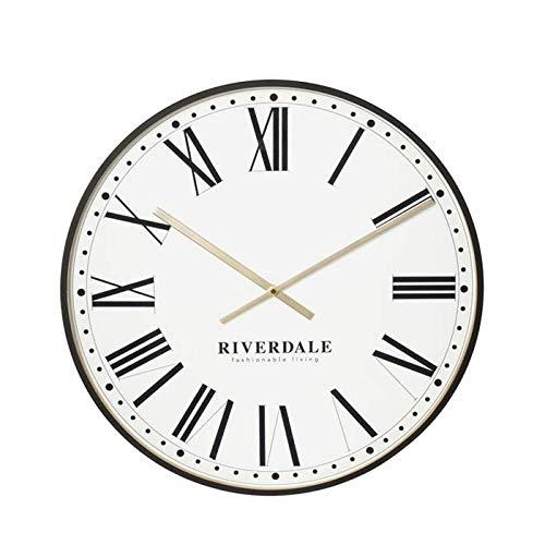 Riverdale Wandklok Camden zwart/wit 53cm