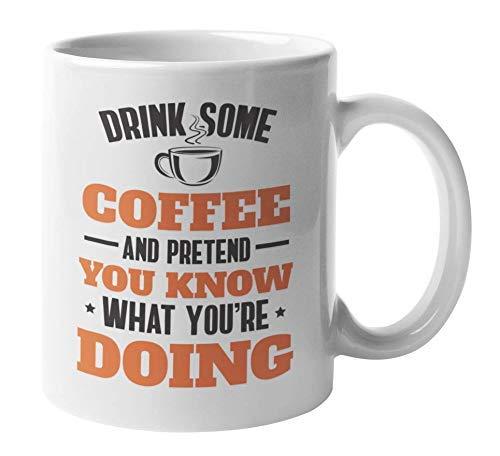 Grappig drankje en zo doen alsof je koffie en theemok voor medewerkers kent