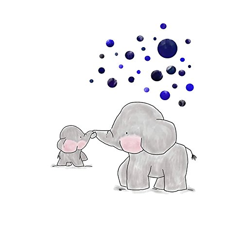 bdrsjdsb Schöne Cartoon Elefant Fuchs Leinwand ungerahmt Wandmalerei Kinderzimmer Dekor 2# 21 cm x 30 cm