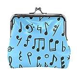 Bonipe - Monedero de piel con diseño de notas musicales para mujeres y niñas