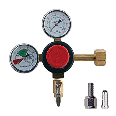 Co2 Beer Regulator. Taprite Brand, Double Gauge, w/ Check Valve by Taprite
