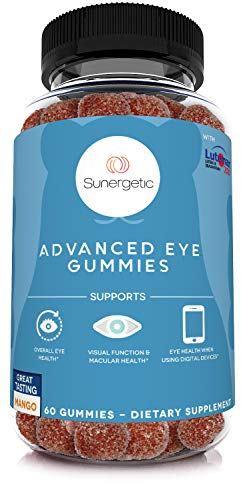 Premium Eye Support Gummies–Lutein Gummies with Zeaxanthin Supports Overall Eye Health, Vision & Macular Health–Clinically Studied Lutein & Zeaxanthin Gummies with Lutemax 2020-60 Eye Gummies