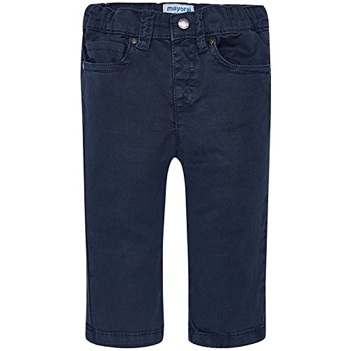 Mayoral - Baby Jungen Stoffhose Festliche Hose Regular-Fit, dunkelblau, Größe 80