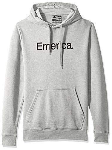 Emerica Herren SMALL Pure Logo Hooded Fleece Skateboard-Kapuzenpullover, Grau/Heather