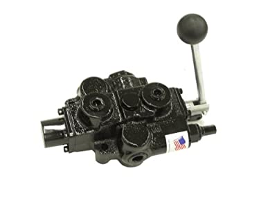 """Prince RD512CA5A4B1 Directional Control Valve, Single Spool, 4 Ways, 3 Positions, Spring Center To Neutral, Cast Iron, 3000 psi, Lever Handle, 30 gpm, In/Out: 3/4"""" NPTF, Work 1/2"""" NPTF by Prince"""