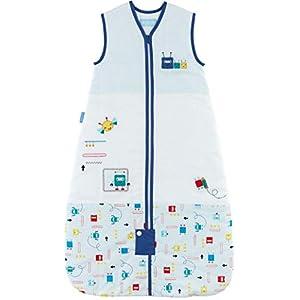 Grobag Saco de dormir para bebé – 2,5 tog Space Bugs diseño de cremallera frontal 100% algodón unisex saco de dormir (6…