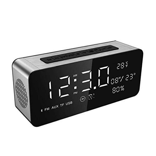 MJ-Alarm Clock Bluetooth Musique Ordinateur téléphone Mini Horloge, Carte Basse u Disque Radio réveil de Bureau