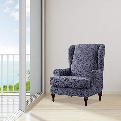 Fiaoen - 2 Fundas para sillones de butaca elásticas, extraíbles, Lavables y Antideslizantes