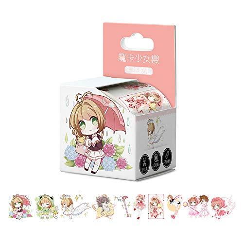 BLOUR 4cm * 5mLlegó Card Captor Sakura Cardcaptor Sakura Anime Washi Tape Adhesive Tape DIY Book Sticker Label Cinta de enmascarar