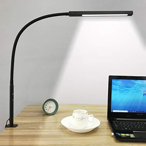 デスクライト 10W LED目に優しい 電気スタンド 調光&調色 自然光 視力ケア 平面発光 省エネ 学習机 テーブルスタンド タイマー、記憶機能、タッチコント 折りたたみ式 卓上ライト クランプ ライト