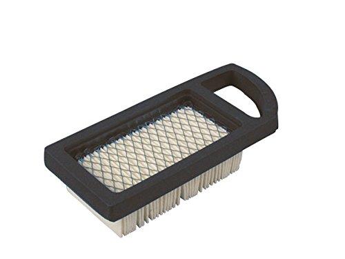 Ratioparts Filtre à air Plat 136,5 x 80 x 35 mm pour Briggs & Stratton Tondeuse à Gazon Filtre à air Plat, Blanc Noir