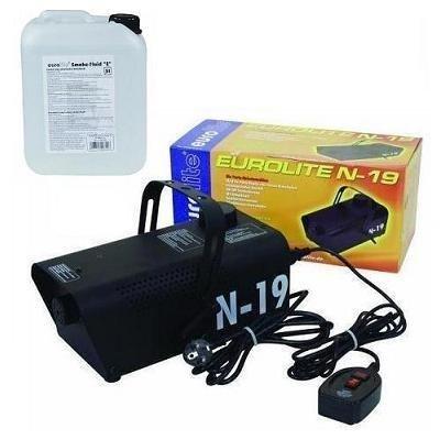 Eurolite N-19 Nebelmaschine schwarz + 5L -E- Fluid