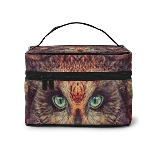 Owl Travel Cosmetic Case Organizer Portable Artist Storage Bag, Multifunction Case Toiletry Bags for Women