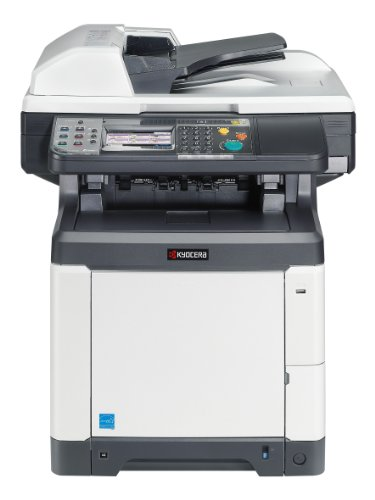Kyocera 1102PY2US0 ECOSYS M6526cidn Color Multifunctional Printer; Fast Output Speed of 28 PPM in Color and Black; Standard Color Print, Copy, Scan and Black and White Fax; Standard 50 Sheet Document Processor