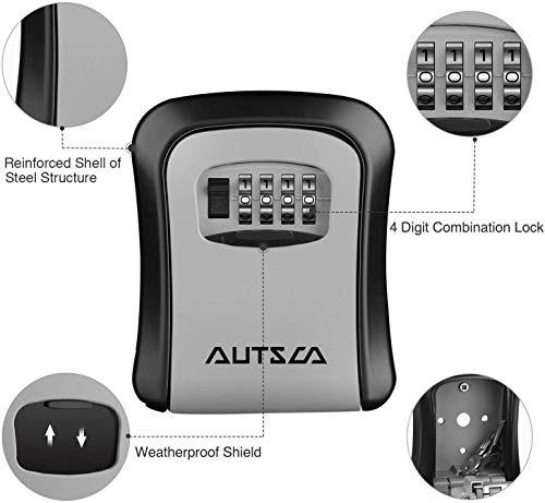 Boite à clé sécurisée AUTSCA avec code numérique à 4 chiffre 2