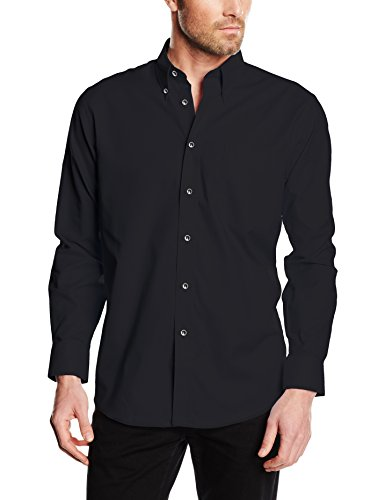 Fruit of the Loom Herren SS101M Businesshemd, Schwarz (Black), XXX-Large
