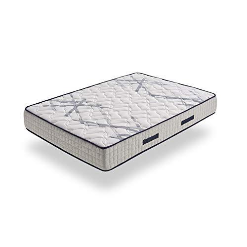 HOGAR24 ES Xtrem Pocket, Colchón Muelles Ensacados + Viscoelástica En Ambos Lados, Reversible Invierno-Verano, 150X190cm