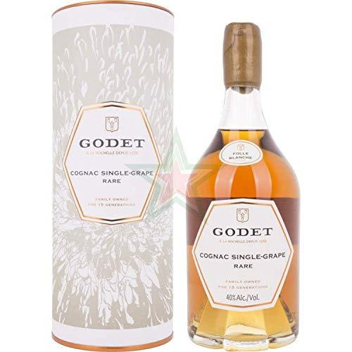 Godet SINGLE-GRAPE RARE Folle Blanche mit Geschenkverpackung Cognac (1 x 0.7 l)