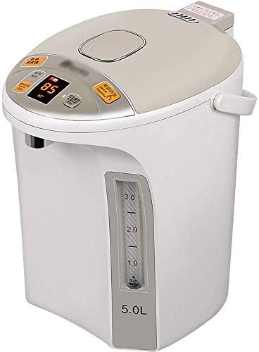 Hervidor eléctrico Acero inoxidable eléctrico Beige Doble Ti-Hot 850W 5L Aislamiento de...