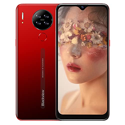 Cellulari Offerte,Blackview A80S Smartphone Offerta del Giorno 4G con 6.21 Pollici HD+ Schermo,Octa-core 4GB 64GB,13MP Quattro Fotocamera,4200mAh Batteria,Android 10 Dual SIM Telefoni Cellulari-Rosso