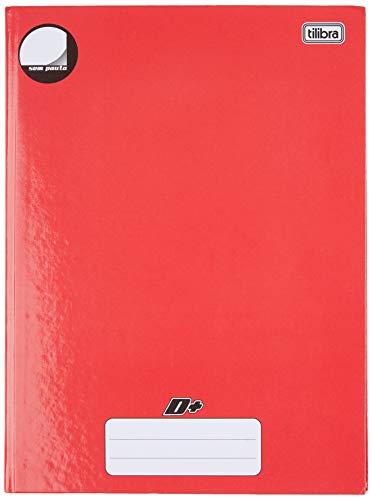 Caderno Brochura Capa Dura Universitário, Tilibra, D+, 140422, 96 Folhas, Vermelho, Sem Pauta