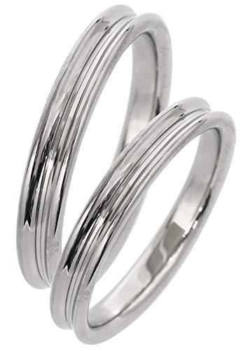 [フェフェ]fe-fe×phiten [特 別 仕 様] ファイテン シンプル ライン チタン ペア リング (メンズ7号とレディース15号) 指輪