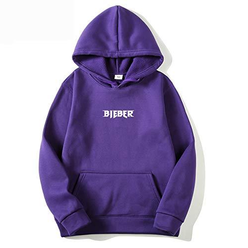 JLTPH Unisex Justin Bieber Kaputzenpullover Langarm Hoodie Pulli Sweatshirt Einfarbig Purpose Tour Sweatshirtjacke Hooded Sportpulli für Damen Mädchen Jungen
