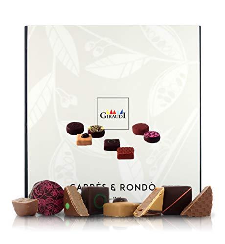 Giraudi Caja de Bombones Artesanos de Chocolate, 500 gr - Surtido Carrés & Rondò