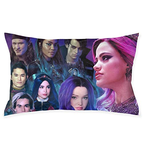ytuytiutfi Descendants 3 Decorative Pillow Cases Bedroom Pillow Cases 20 X30 Inch, Cushion Covers for Sofas, Sofas and Beds