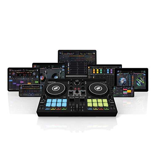 Reloop Buddy Kompakter 2-Kanal DJ Controller für Algoriddim DJay auf iOS, PadOS, Android, Mac und PC mit RGB Performance Pads, FX Paddel und Neural Mix Steuerung, schwarz, AMS-BUDDY