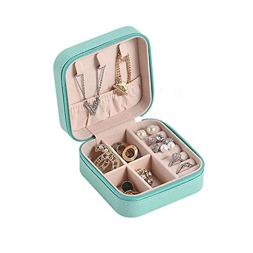 OMIDM Caja de joyería, Caja de joyería pequeña, Caja de Almacenamiento de Viajes para Anillos y Pendientes-Rosa Verde Negro Blanco joyería Organizador para Mujeres Regalo de niñas (Color : A)