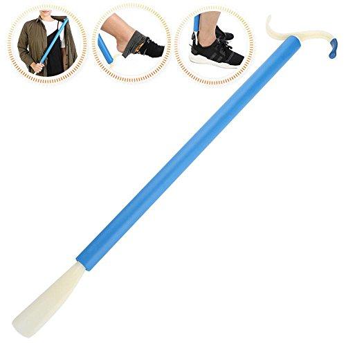 Palillo de vestimenta, movilidad adaptativa multifuncional Palillo de ayuda para vestir con mango largo y zapato Cuerno Agarrador de calcetín