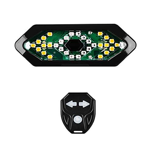 Fivesix Bicicleta de luz de la Vuelta LED con Control Remoto inalámbrico de Control Posterior de la Bicicleta luz Trasera con convertir la señal para el Ciclismo, Accesorios de la Bicicleta