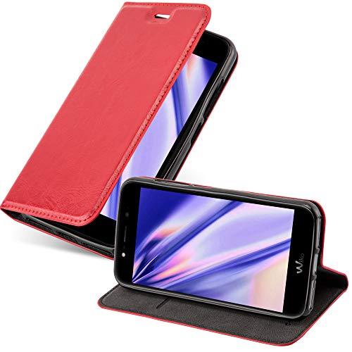 Cadorabo Hülle für WIKO WIM LITE in Apfel ROT - Handyhülle mit Magnetverschluss, Standfunktion & Kartenfach - Hülle Cover Schutzhülle Etui Tasche Book Klapp Style