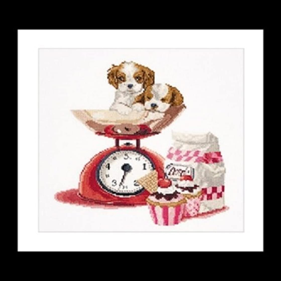 TG741A Baking Puppy On Aida Counted Cross Stitch Kit-12.25