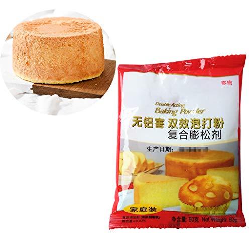 KINTRADE 50g doppeltwirkendes Backpulver Aluminium Kostenlos zum Kochen Weiche, Flauschige, gedämpfte Brötchen Brotkuchen, der das Treibmittel für die Küche enthält