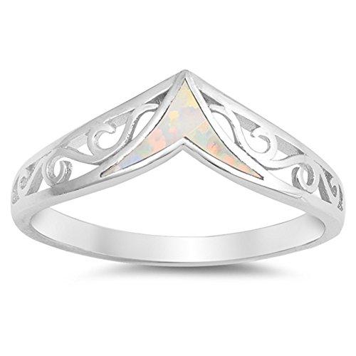 Scegli il tuo colore argento Sterling filigrana chevron Ring, Argento, 11,5, colore: Silver