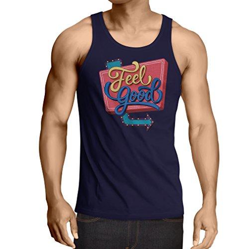 lepni.me Camisetas de Tirantes para Hombre Me Siento Bien ! - Ropa Inspirada, Citas sobre la Vida (XX-Large Azul Multicolor)