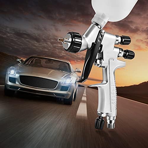 InLoveArts HVLP Pistola de pulverización de alta atomización de 1mm Pistola de pulverización de aire de alimentación por gravedad para pulverización de muebles de pared automotriz