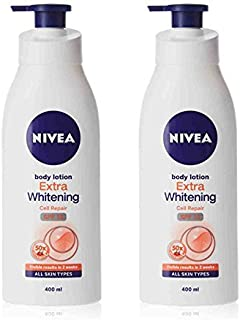 2 Lots X Nivea Extra Whitening Cell Repair Body Lotion SPF 15, 400ml