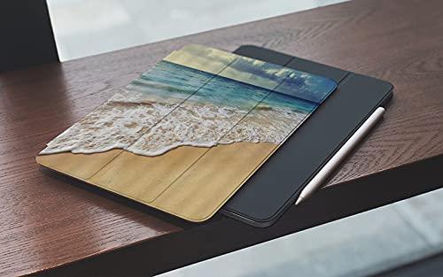 MEMETARO Funda para iPad (9,7 Pulgadas 2018/2017 Modelo), Playa Océano Tropical Isla Hawái Océano Pacífico Ola Amanecer Horizonte Navegación Smart Leather Stand Cover with Auto Wake/Sleep