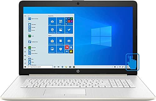 "HP 2021 Newest 17.3"" HD+ Display Home and Business Laptop, Intel i5-1035G1(> i7-8550U), Numeric Keypad, DVD-RW 12GB DDR4 RAM, 256GB PCIE SSD, Bundle with Woov Accessories - Windows 10 Home - Silver"