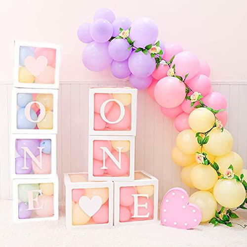 Cutogain Finetoknow 4 Teile/Satz Baby Shower Party Decor Ballon Box Transparent Karton